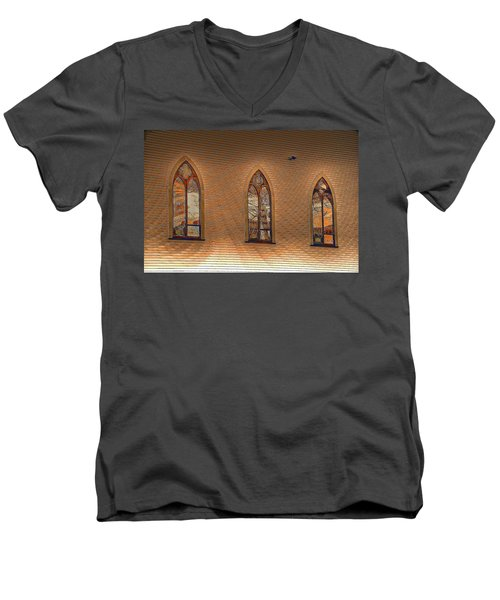 Church Windows Men's V-Neck T-Shirt