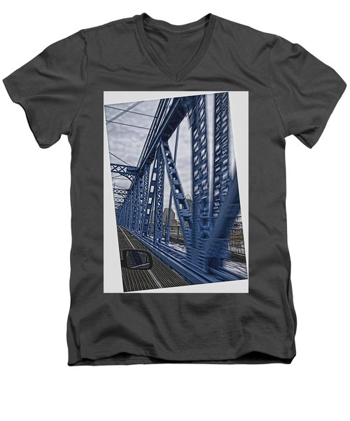 Cincinnati Bridge Men's V-Neck T-Shirt