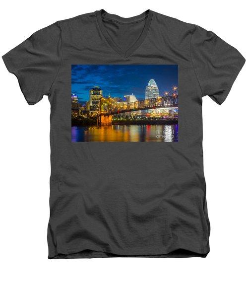 Cincinnati Downtown Men's V-Neck T-Shirt