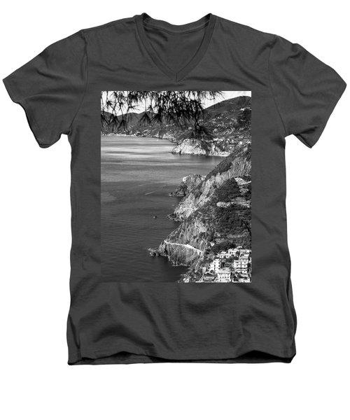 Cinque Terre Coastline Men's V-Neck T-Shirt