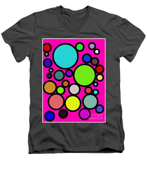 Circles Galore Men's V-Neck T-Shirt