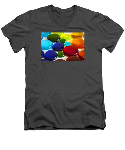 Circles Of Color Men's V-Neck T-Shirt