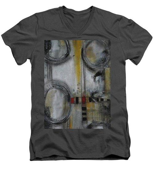 Circles Of Life Men's V-Neck T-Shirt by Nicole Nadeau