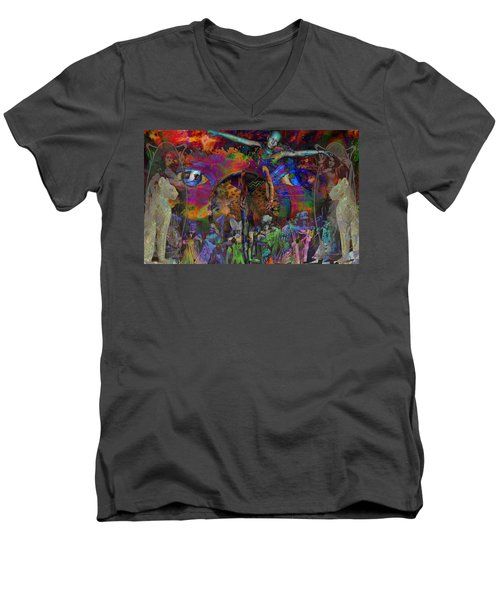 Solar Mind Men's V-Neck T-Shirt by Joseph Mosley