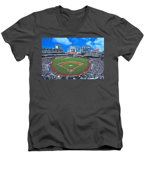 Citi Field - Home Of The N Y Mets Men's V-Neck T-Shirt