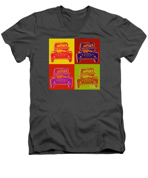 Citroen 2cv Men's V-Neck T-Shirt by Jean luc Comperat