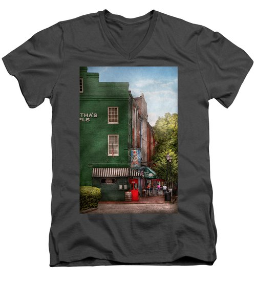 City - Baltimore - Fells Point Md - Bertha's And The Greene Turtle  Men's V-Neck T-Shirt