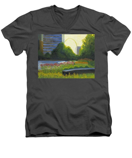 City Garden St. Louis Men's V-Neck T-Shirt