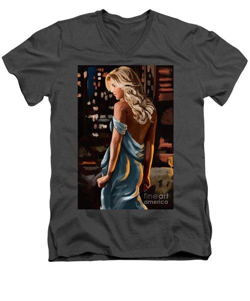 City Girl Men's V-Neck T-Shirt