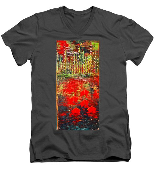 City Lights - Sold Men's V-Neck T-Shirt