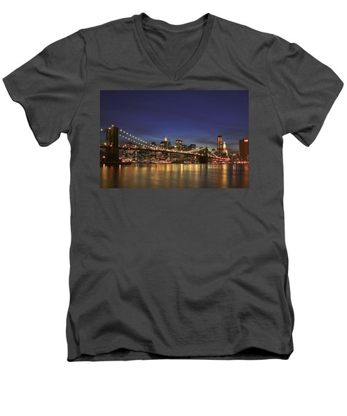 City Of Lights Men's V-Neck T-Shirt