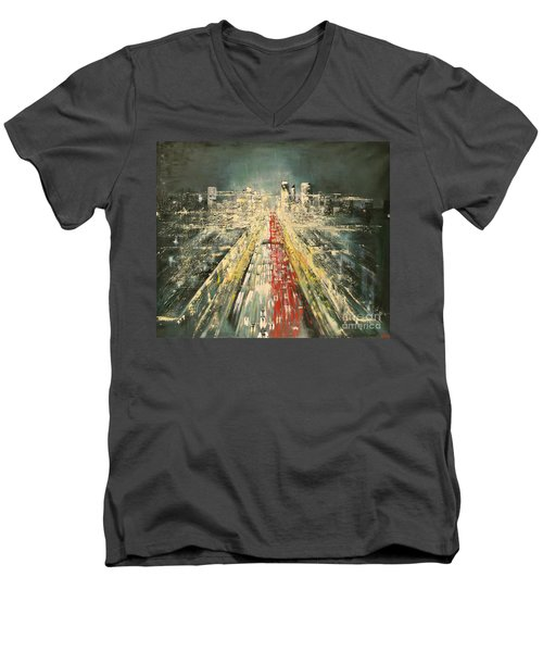 City Of Paris Men's V-Neck T-Shirt by Maja Sokolowska