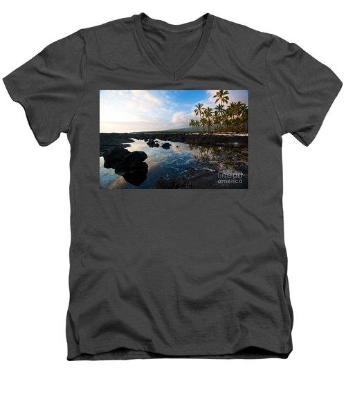 City Of Refuge Beach Men's V-Neck T-Shirt