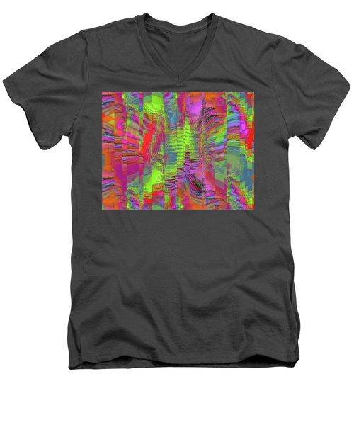 City Of Stairways Men's V-Neck T-Shirt
