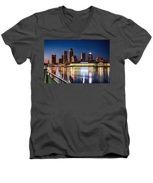 City Of Tampa Skyline  Men's V-Neck T-Shirt