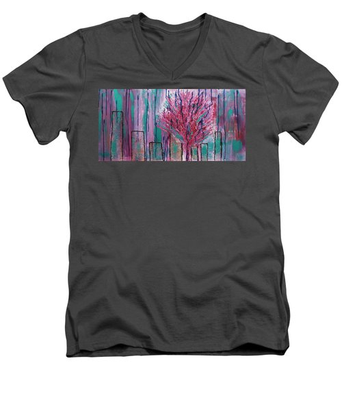 City Pear Tree Men's V-Neck T-Shirt