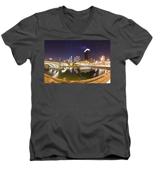 City's Reflection Men's V-Neck T-Shirt