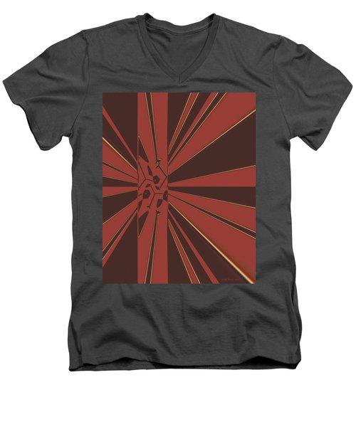 Civilities Men's V-Neck T-Shirt by Judi Suni Hall