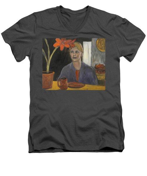 Claire's Amaryllis Men's V-Neck T-Shirt