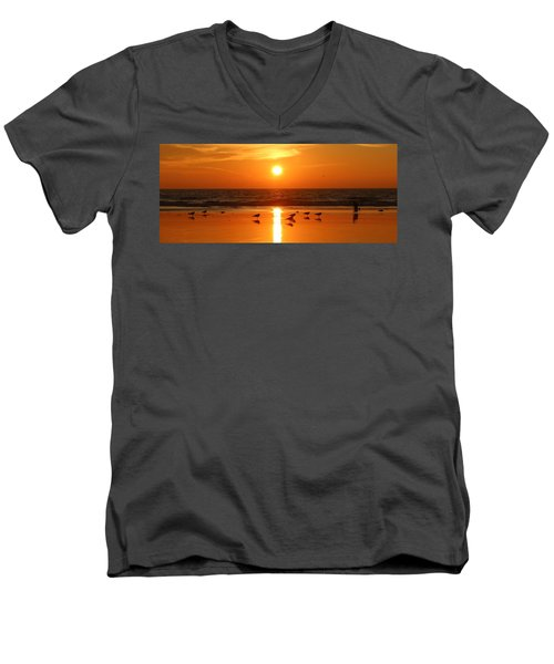 Clam Digging At Sunset - 2 Men's V-Neck T-Shirt