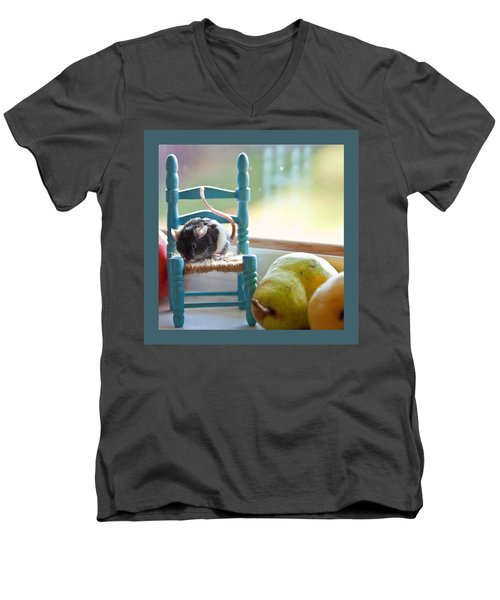 Clara's Favorite Chair Men's V-Neck T-Shirt