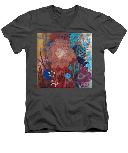 Men's V-Neck T-Shirt featuring the painting Clarity by Robin Maria Pedrero