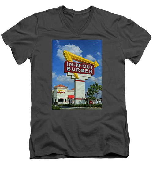 Classic Cali Burger 1.1 Men's V-Neck T-Shirt