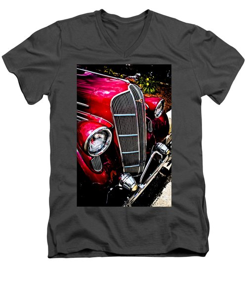 Men's V-Neck T-Shirt featuring the photograph Classic Dodge Brothers Sedan by Joann Copeland-Paul