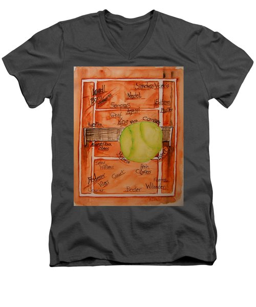 Clay Courters Men's V-Neck T-Shirt