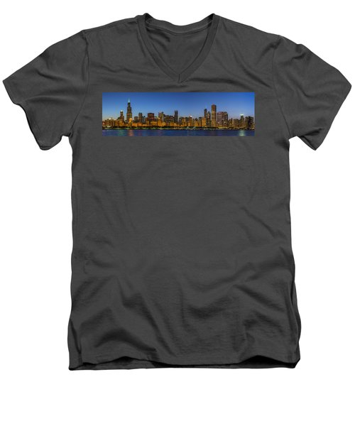 Men's V-Neck T-Shirt featuring the photograph Clear Blue Sky by Sebastian Musial