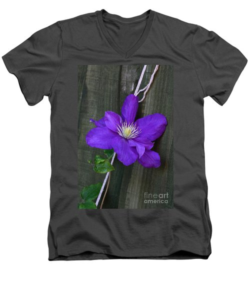 Clematis On A String Men's V-Neck T-Shirt