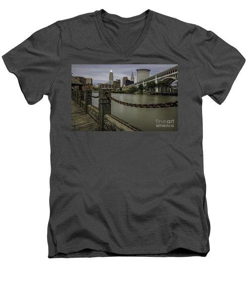 Cleveland Ohio Men's V-Neck T-Shirt by James Dean
