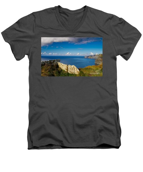 Men's V-Neck T-Shirt featuring the photograph Cliffs Of Moher by Juergen Klust
