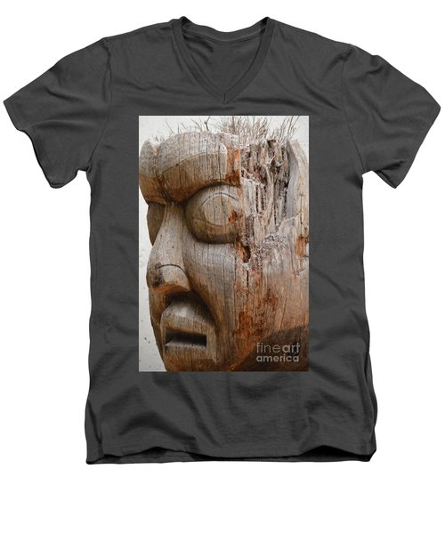 Climate Mind Changer Men's V-Neck T-Shirt by Brian Boyle