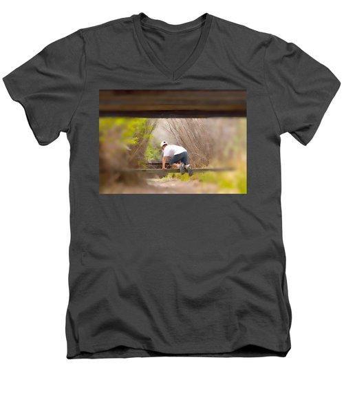 Climb On Over Men's V-Neck T-Shirt