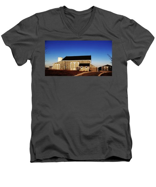 Men's V-Neck T-Shirt featuring the photograph Closed For The Day by Tina M Wenger