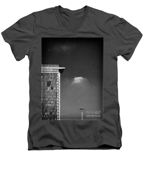 Men's V-Neck T-Shirt featuring the photograph Cloud Lamp Building by Silvia Ganora