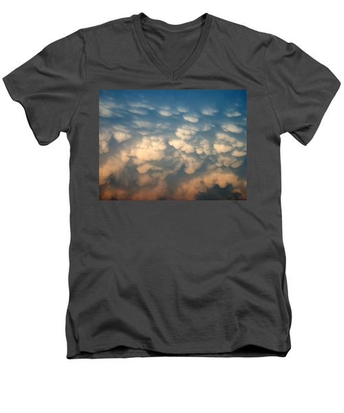 Men's V-Neck T-Shirt featuring the photograph Cloud Texture by Shane Bechler