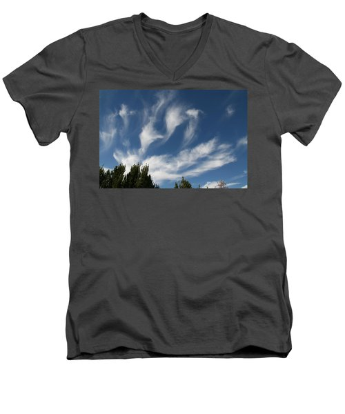 Men's V-Neck T-Shirt featuring the photograph Clouds by David S Reynolds