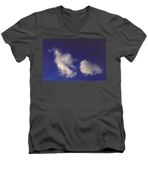 Men's V-Neck T-Shirt featuring the photograph Clouds by Mark Greenberg