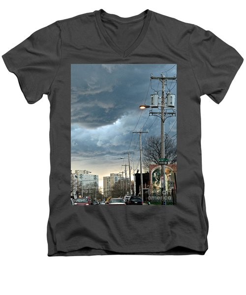 Clouds Over Philadelphia Men's V-Neck T-Shirt