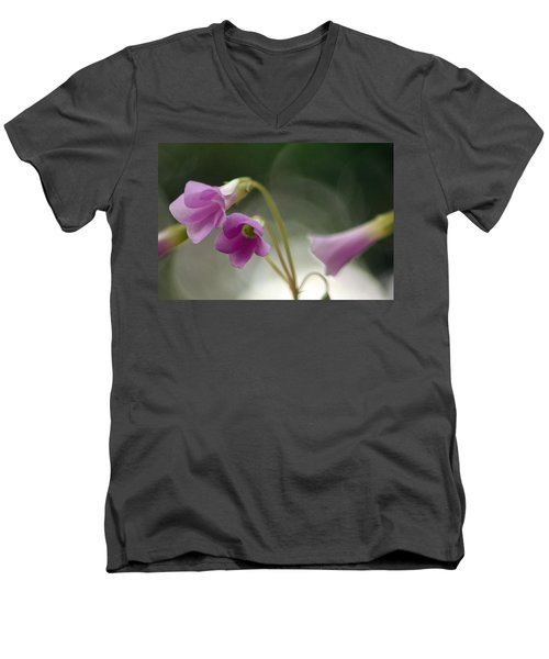 Men's V-Neck T-Shirt featuring the photograph Clover Bells by Greg Allore