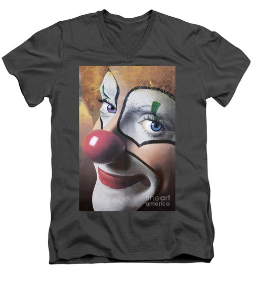 Clown Mural Men's V-Neck T-Shirt