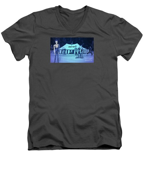 Men's V-Neck T-Shirt featuring the photograph Clown Tent by Nareeta Martin