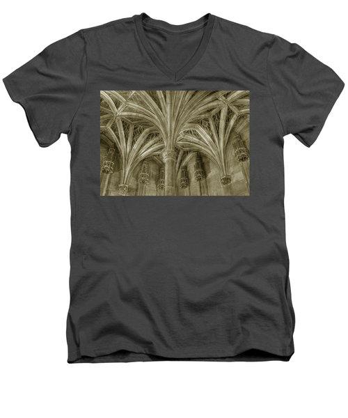 Cluny Museum Ceiling Detail Men's V-Neck T-Shirt