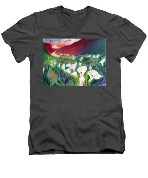 Coastal Callas Men's V-Neck T-Shirt