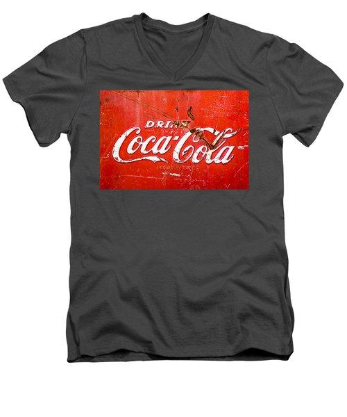 Coca-cola Sign Men's V-Neck T-Shirt