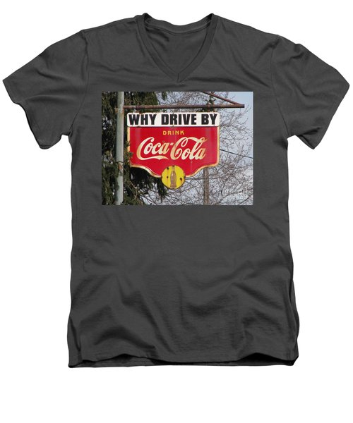 Coca-cola Sign Men's V-Neck T-Shirt