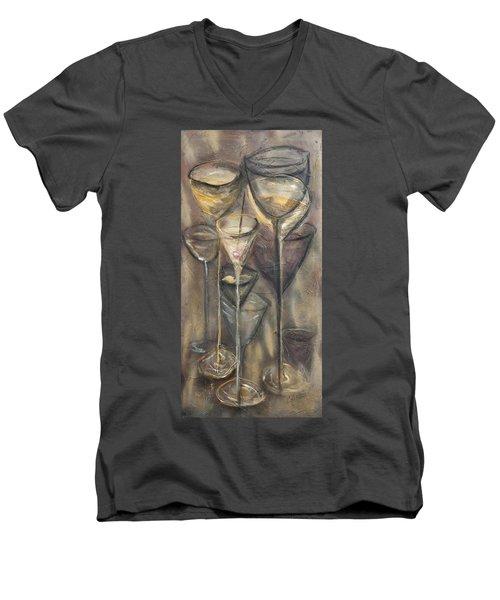 Nine Glasses Men's V-Neck T-Shirt
