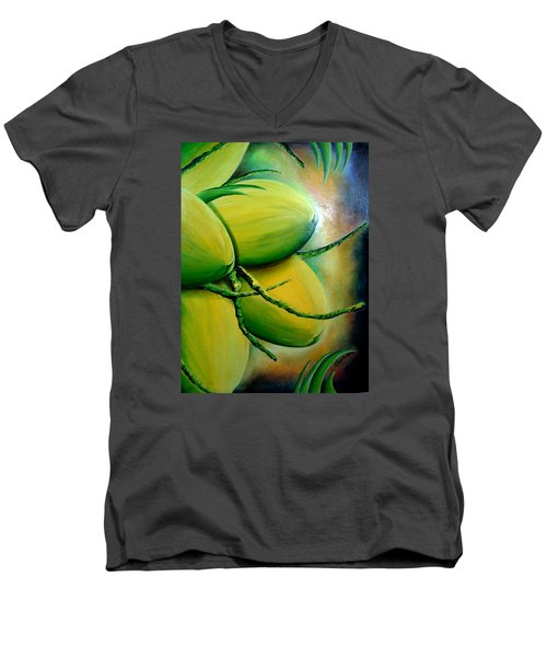 Coconut In Bloom Men's V-Neck T-Shirt
